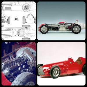"""Four Photo Montage of the Alfa Romeo 158/159 """"Alfetta"""""""
