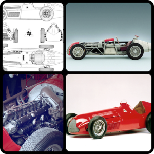"Four Photo Montage of the Alfa Romeo 158/159 ""Alfetta"""