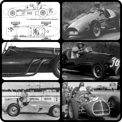 Black and White pictures of 1953 Formula 1 Cars