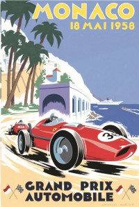 Race Poster from 1958 Monaco GP