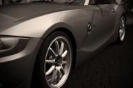 Grey Z4 Sitting on Prodrive Rims.