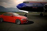 Red M3 BBS Rims Airplane.