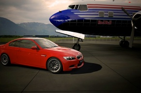 Red M3 BBS Rims Airplane.