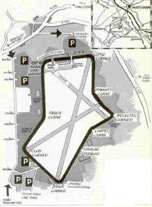 Vintage Silverstone Map