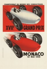 1959 Monaco GP Race Poster
