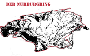 Nurburgring 3d outline with stencil