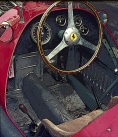 The cockpit of a Ferrari 500.