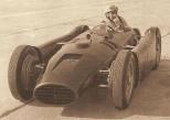 Alberto Ascari at the wheel of a Lancia D50.