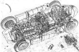 Beautiful cutaway drawing of the Lancia D50.