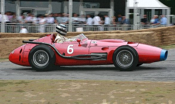 A Maserati 250F being run at Goodwood 2010.