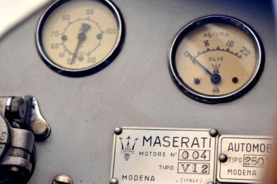 A closeup of the 250F dashboard.