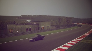 Lotus Elan on the back stretch of Spa-Francorchamps.