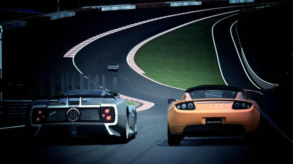 Digital Gran Turismo photo of Eau Rouge at Spa-Francorchamps.